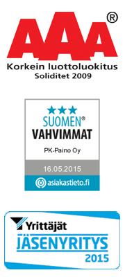 PK-Paino Oy - Tampere - sertifikaatit