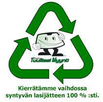 Tampereen Tuulilasimyynti Oy - kierrätämme lasijätteen 100%