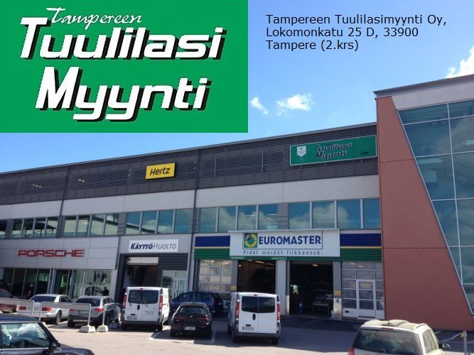 Tampereen Tuulilasimyynti Oy (Hatanpää), Lokomonkatu 25 D, 33900 Tampere (2 krs.)