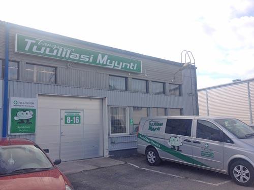 Tampereen Tuulilasimyynti Oy (Lielahti), Possijärvenkatu 2, 33400 Tampere