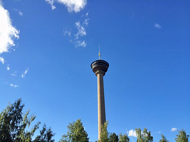 Näsinneula Observation Tower in Särkänniemi (168 m)