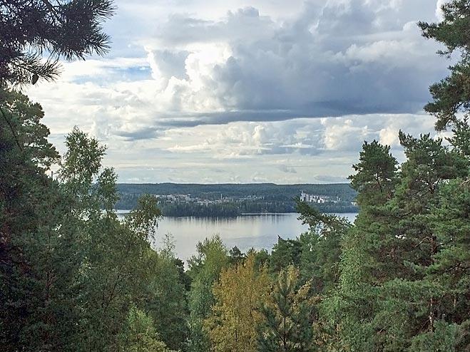 View from Pyynikki to lake Pyhäjärvi - Tampere