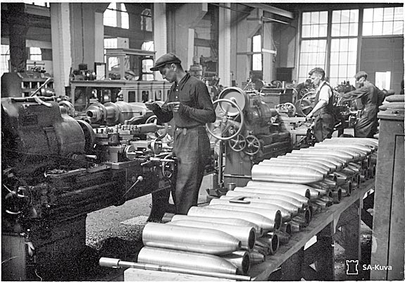 Workers producing ammunition